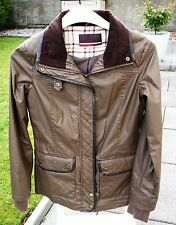 Next Brown Cotton Waxed Look Jacket in Size 10
