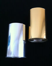2 X 50mm TOP QUALITY SILVER AND GOLD 125 METER PER ROLL 12 MICRON HOT FOIL