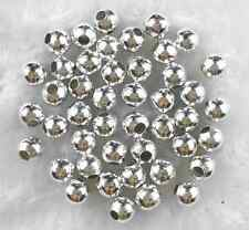 Silver Plated Metal Spacer Loose Beads Jewelry Charms 60Pcs 6mm