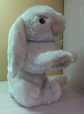 "Large 18"" Bunny Rabbit Cream Color Blue Ribbon Plush stuffed toy animal NWT"
