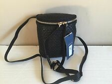 NEW Cole Haan Black Woven Leather Shoulder bag! Fast Shipping!