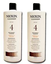 x2 Nioxin Cleanser, System 4 (Fine/Treated/Noticeably Thinning) 33.8 Oz (2 Pack)