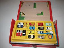 VINTAGE LOT OF 17 MICRO MACHINES DIE CAST CARS AND PLAY AREA - SEE PICS -