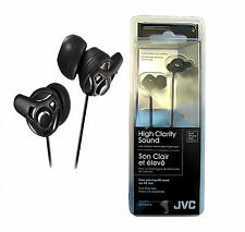 JVC HAFX40B High Clarity Sound Quality In-Ear Headphones Earphones (Black)