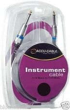 "Accu Cable 10' 1/4"" Mono Male to 1/4"" Mono Male Instrument Cable QTR10"