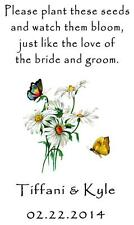 Wedding Seed Packets Favors Daisies Butterfly Six Verses to Choose from 40 Qty.