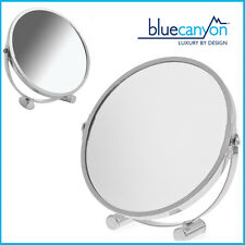 2X Magnifier Mirror Double Size Shaving/Make up Swivel Small Platform BlueCanyon