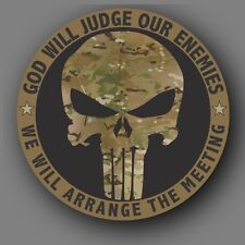 Punisher Military Multicam Die Cut Decal Sticker Car Truck  4""