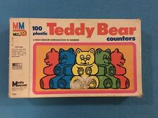 VINTAGE 1985 MEDIA MATERIALS TEDDY BEAR COUNTERS COUNTING NUMBERS K TO 3rd grade