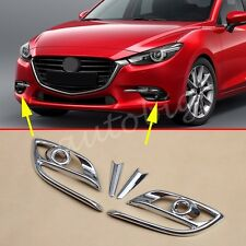 Chrome Fog Light Cover FOR Mazda3 BN 2017 Axela Mazda 3 M3 Trims Accessories
