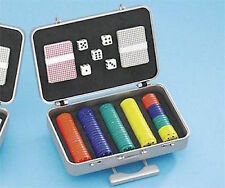 Mini Compact Travel Poker Gift Set & Case - Neat gadget - pocket suitcase
