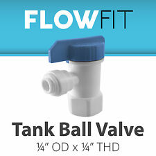"""Express Water 1/4"""" Tank Ball Valve Quick Connect Parts Water Filters / RO System"""
