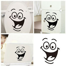 Home Decor Smile Face Sticker Smiley Wall Big Eyes Decoration Bathroom Kids Gift