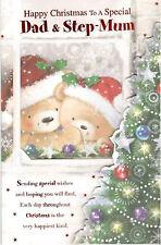 Dad & madre de paso Navidad tarjeta. Happy To A Special &