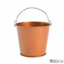 METAL COPPER COLORED PAILS BUCKETS NEW (LOT OF 12) HUGE LOT