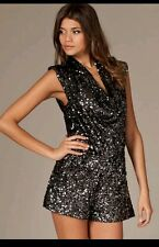 Beautiful 'Lucinda' Fully Sequinned French Connection  Playsuit New! RRP £150