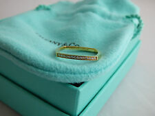 Tiffany & Co. Frank Gehry 18K Yellow Gold Torque Diamond Micro Band Ring Size 7
