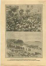 WWI Parade Athens Constantine I of Greece/ Gaba-Tepe Gallipoli 1915 ILLUSTRATION