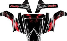 POLARIS RZR 800 UTV SIDE x SIDE Graphics Decal Kit 2007 2010 Liquid Silver Red