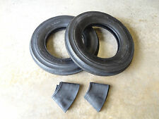 TWO New Deestone 6.00-16 D401 Tri-Rib Front Tractor Tires & Tubes 6 ply 3 Rib