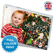Christmas Personalised Acrylic Photo Snow Block Picture Gift Present | 6 x 4""