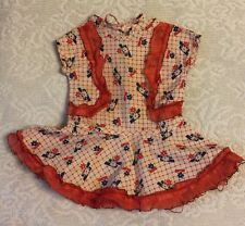 Vintage Doll Dress Unusual Style and Cool pattern Dropped Waist