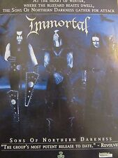 Immortal, Sons of Northern Darkness, Full Page Promotional Ad