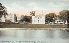 c.1910 US Government Buildings Iona Island NY post card Rockland County