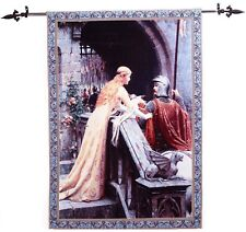 """Classic Medieval knight Tapestries Jacquard Woven Wall Hanging 39""""x55"""",Godspeed"""