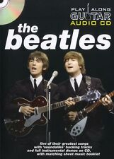 Play Along Guitar Audio CD The Beatles Learn to Play Rock Pop TAB Music Book