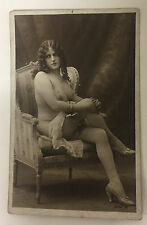 ORIGINAL FRENCH EROTIC RPPC NUDE SEXY POST CARD #14