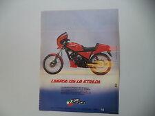 advertising Pubblicità 1984 MOTO LAVERDA 125 LB STRADA