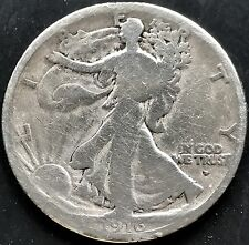 USA 1916 D Walking Liberty Half Dollar 50 Cent Denver Silber Selten 4410