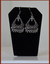 Silver Metal Pentagon Hoop Dangle Earrings hook Handmade fashion Jewelry India