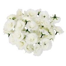 50Pcs Artificial Silk Rose Peony Flower Heads Bulk Craft Wedding Decor White