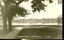 WABASHA,MINNESOTA-MISSISSIPPI RIVER-SIGN-LOOK OUT THE CARS-RPPC-(RP#1-1126)