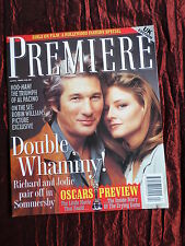 PREMIERE- MOVIE MAGAZINE -UK ED -APRIL 1993-#3 - RICHARD GERE- CLAUDIA CHRISTIAN
