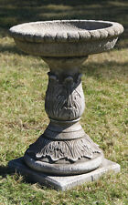 Acanthus Bird Bath - Stone Birdbath - Garden Birdbath