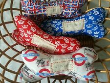 personalised  dog bone/toy.  Birthday present.London fabric