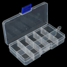 10 Compartments Fishing Fish Hook Bait Lure Box Tackle Storage Container Case DS