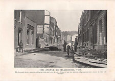 1918 WW1 WORLD WAR I PRINT ~ THE AVENUE DE MAASTRICHT VISE EXTENT OF WAR