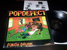 "Popdefect ""Punch Drunk"" LP with insert Flipside Records ‎– FLIP 43 Usa 1992"