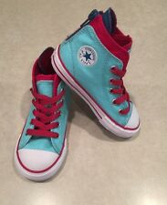 NEW~~CONVERSE CT Back Zip Toddler  Girl's Poolside/Berry Hi Sneakers~~Size 8
