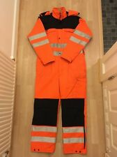 Mens Snickers Work Overalls Padded Hi Vis Winter Hi Viz Boilersuit Size Small