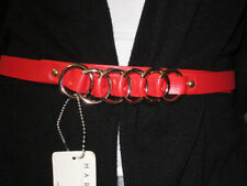 Trendy Sexy Women Belt with Gold Hoops Perfect for Any Outfit Size fits XS to L