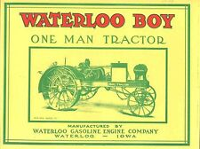 "Waterloo Boy Tractor (1914-1915) Model ""R"",  reprint"