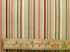 3 Metres Ticking Stripe Linen Look Designer Fabric Curtain Upholstery Quilting