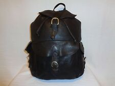 London Fog Vintage Dark Brown Rucksack Backpack.