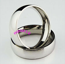 30pcs Comfort Fit 6mm Band Stainless Steel Wedding Rings Wholesale Jewelry Lots