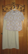 Woman's size 10 Patagonia floral short-sleeve shirt & long cream size 10 skirt